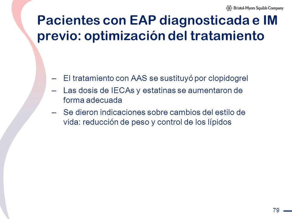 Pacientes con EAP diagnosticada e IM previo: optimización del tratamiento