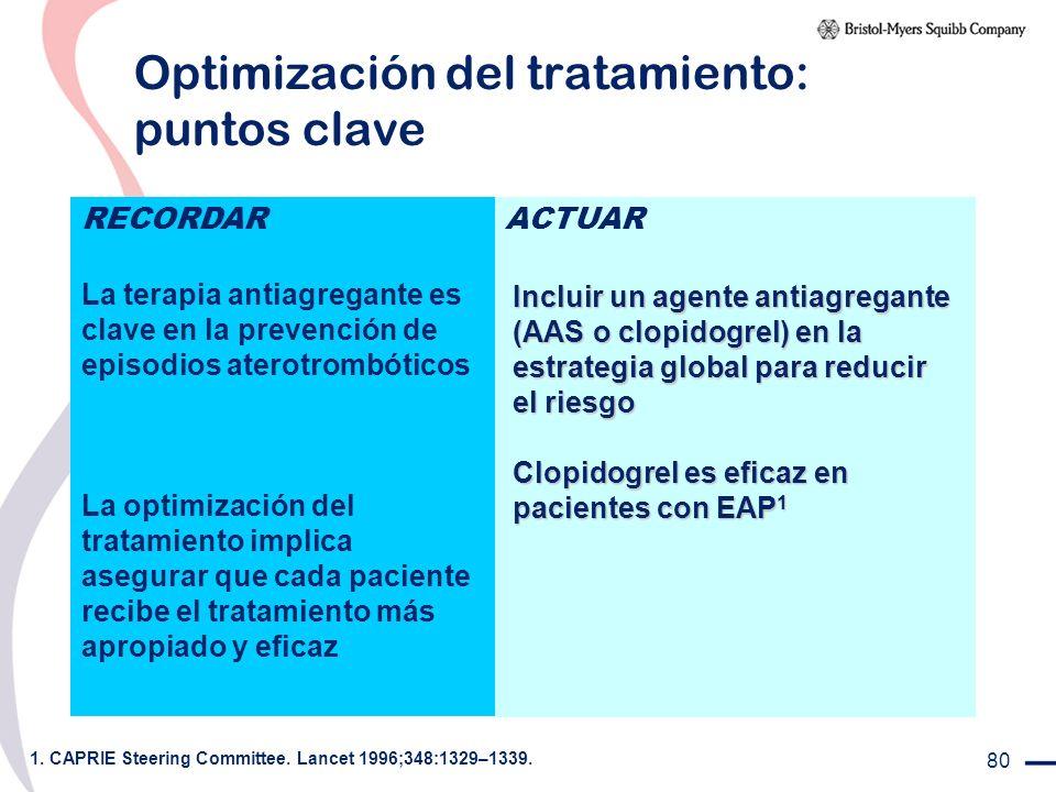 Optimización del tratamiento: puntos clave