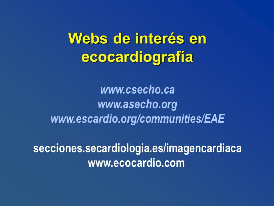 Webs de interés en ecocardiografía