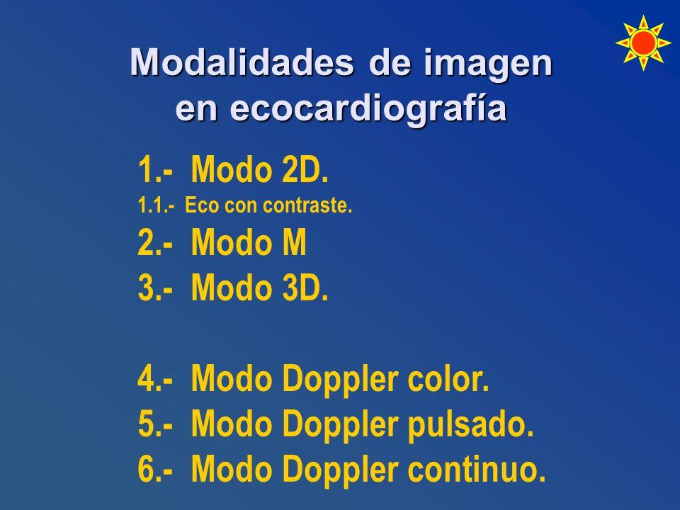 Modalidades de imagen en ecocardiografía