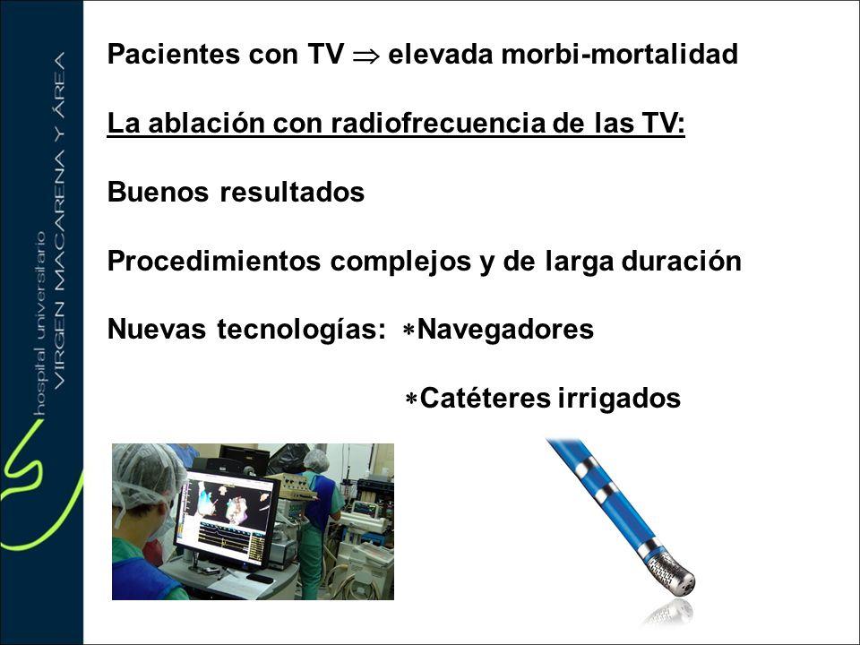 Pacientes con TV  elevada morbi-mortalidad