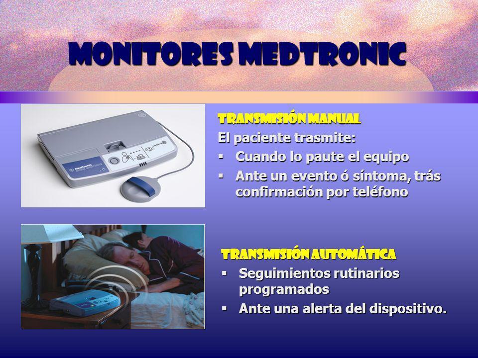 MONITORES MEDTRONIC TRANSMISIÓN MANUAL El paciente trasmite: