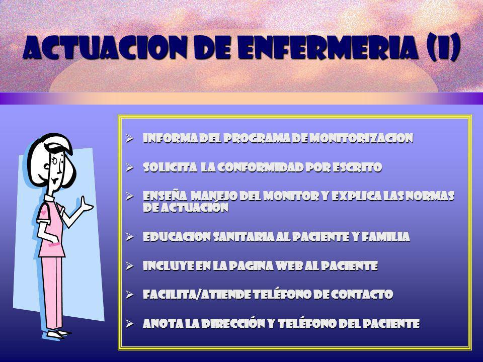 ACTUACION DE ENFERMERIA (I)