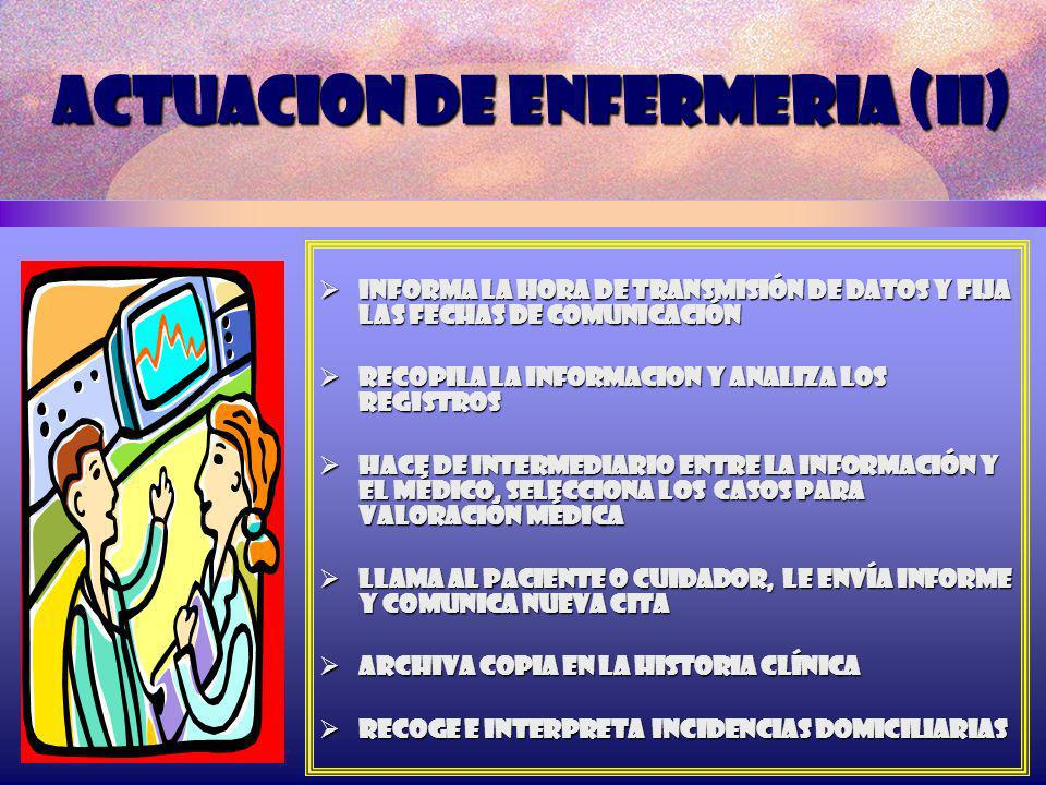 ACTUACION DE ENFERMERIA (II)