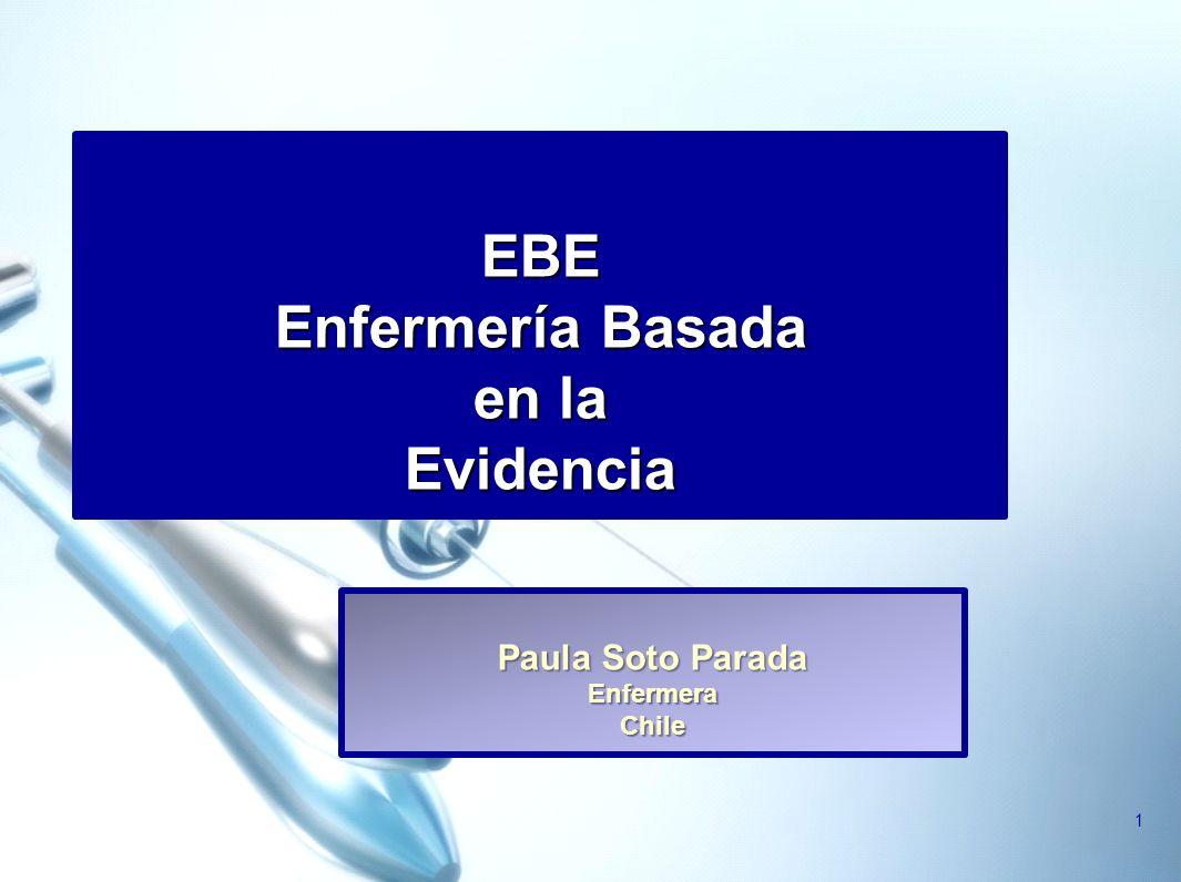 EBE Enfermería Basada en la Evidencia