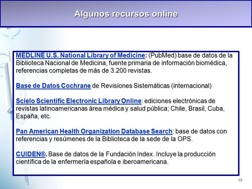 Algunos recursos online