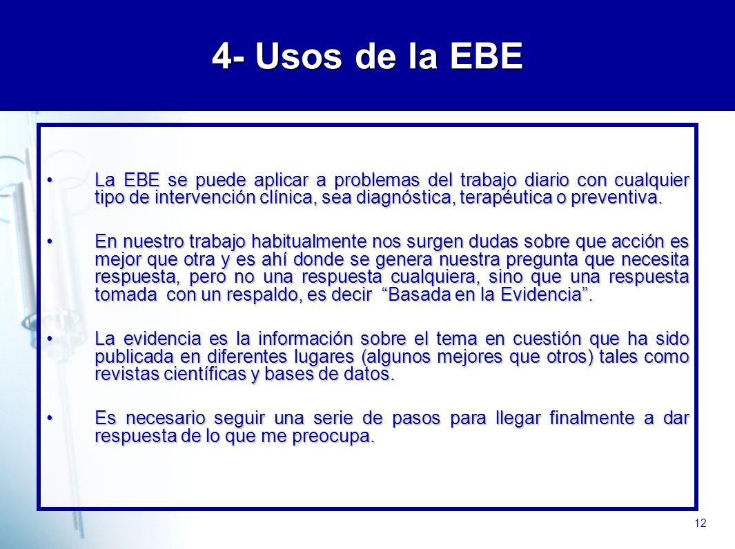 4- Usos de la EBE