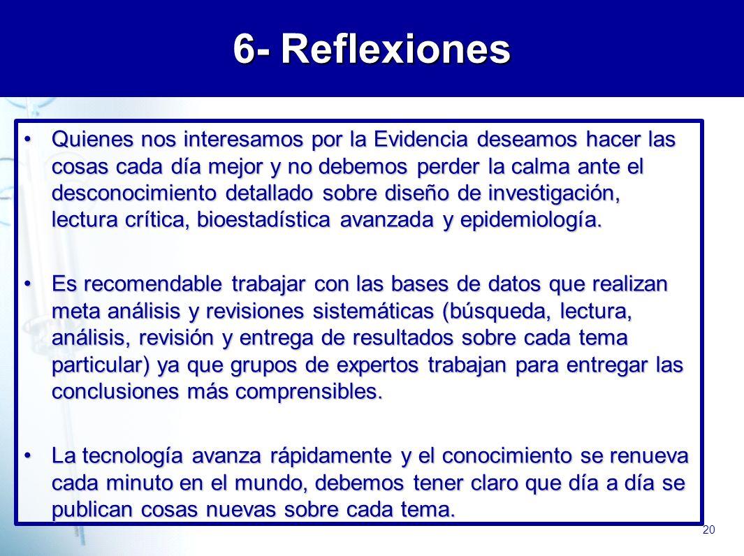 6- Reflexiones