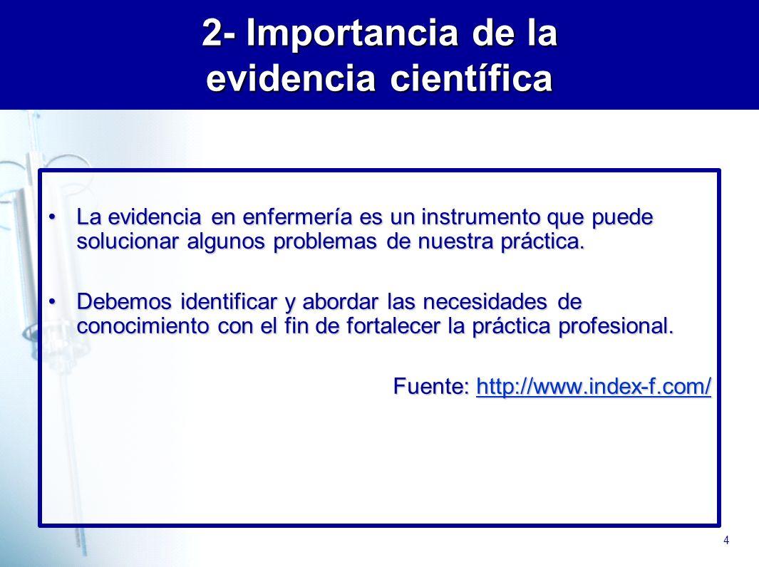 2- Importancia de la evidencia científica
