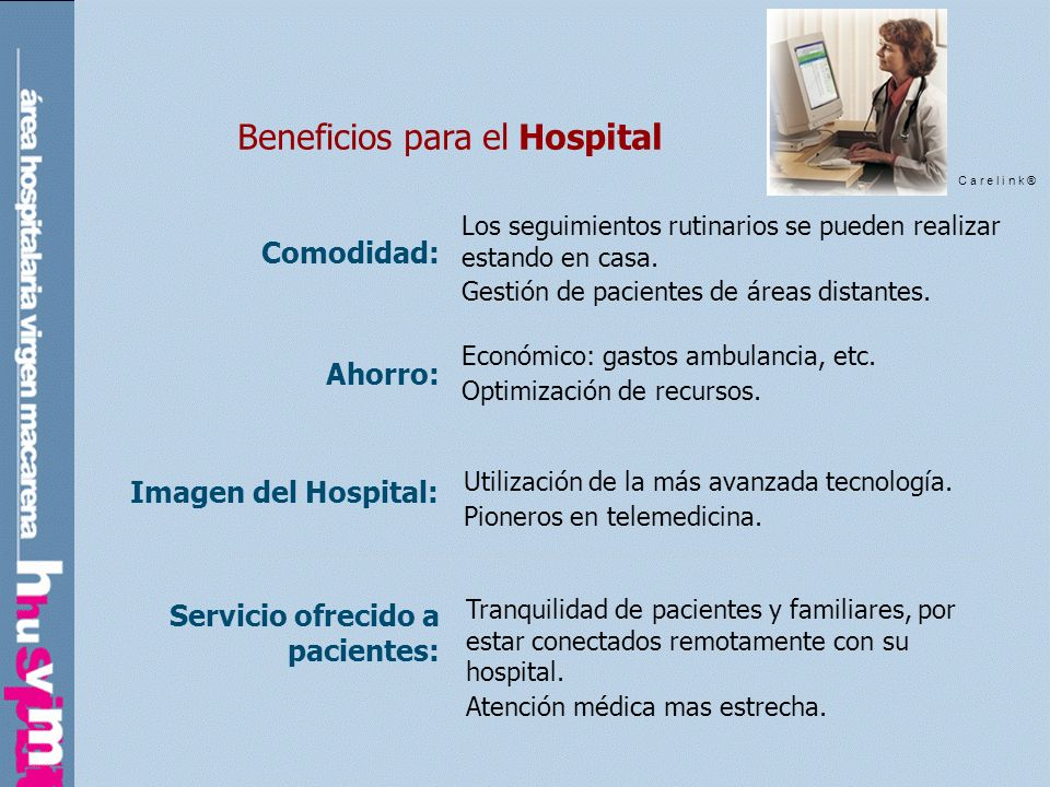 Beneficios para el Hospital