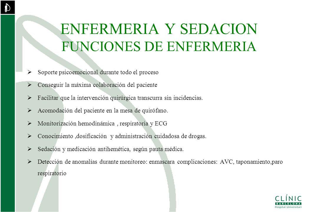 ENFERMERIA Y SEDACION FUNCIONES DE ENFERMERIA