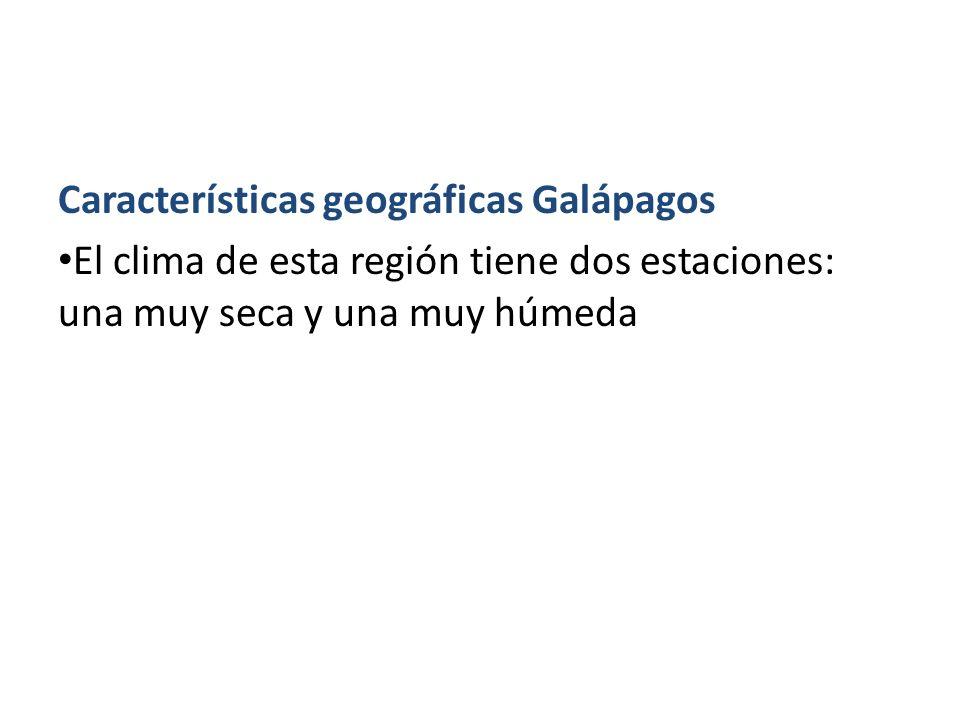 Características geográficas Galápagos