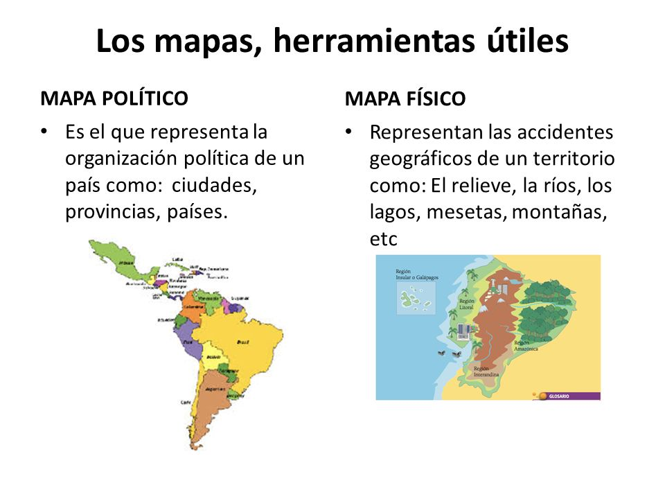 Los mapas, herramientas útiles