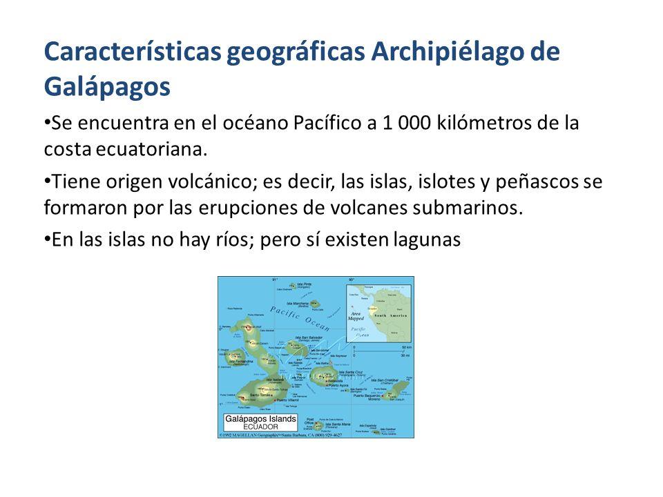 Características geográficas Archipiélago de Galápagos