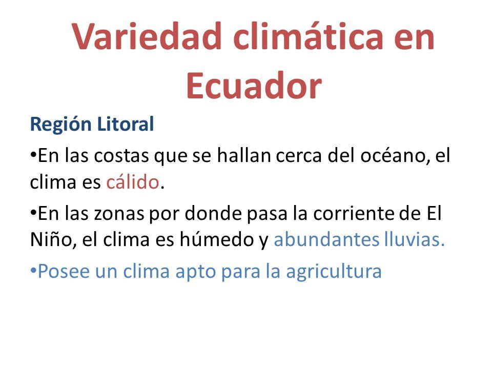 Variedad climática en Ecuador