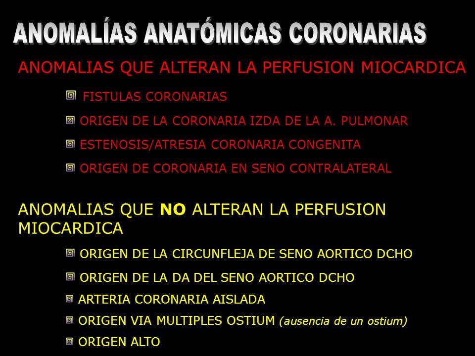 ANOMALÍAS ANATÓMICAS CORONARIAS