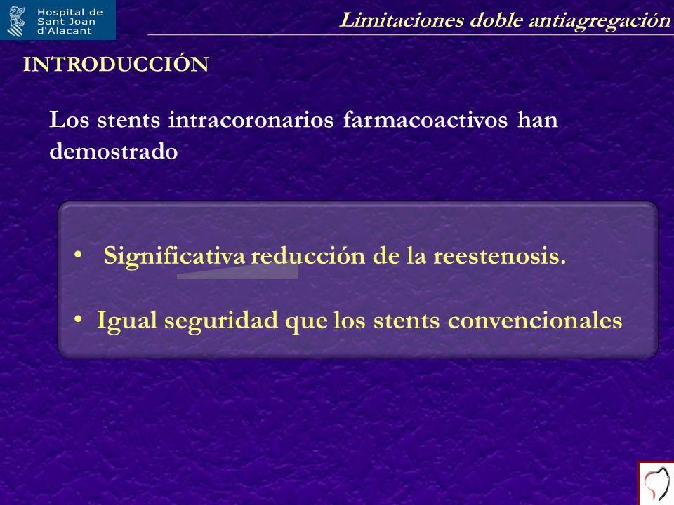 Significativa reducción de la reestenosis.