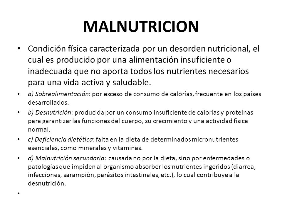 MALNUTRICION