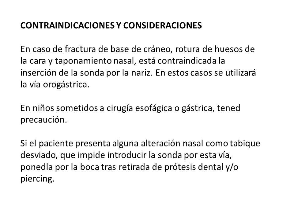 CONTRAINDICACIONES Y CONSIDERACIONES