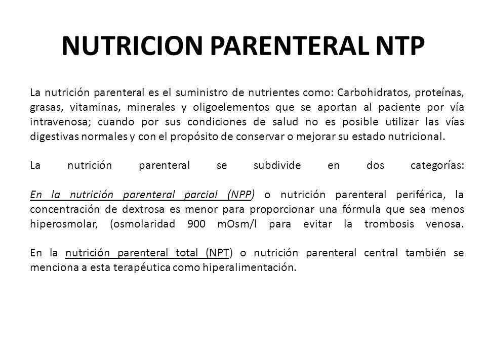 NUTRICION PARENTERAL NTP