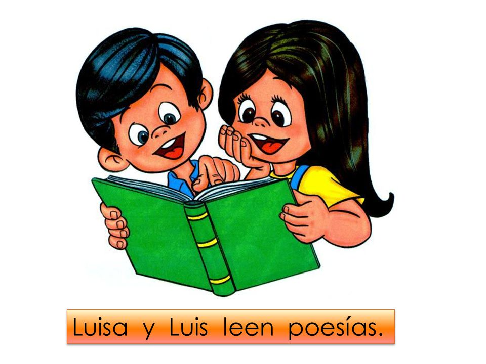 Luisa y Luis leen poesías.