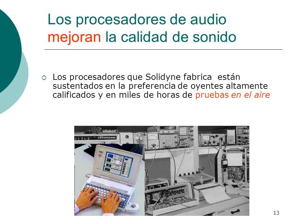 Los procesadores de audio mejoran la calidad de sonido