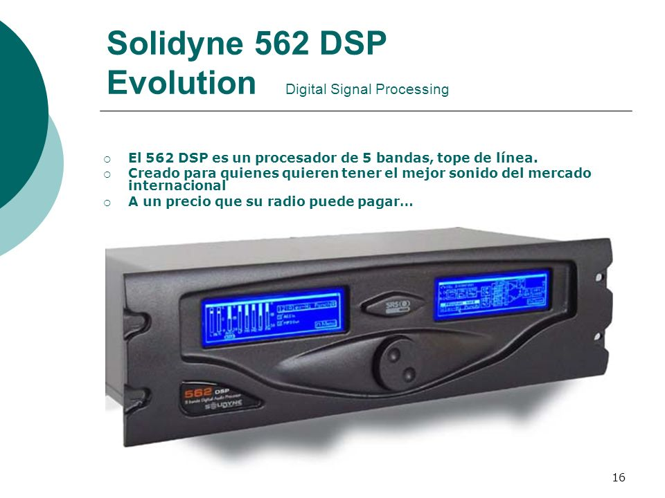 Solidyne 562 DSP Evolution Digital Signal Processing