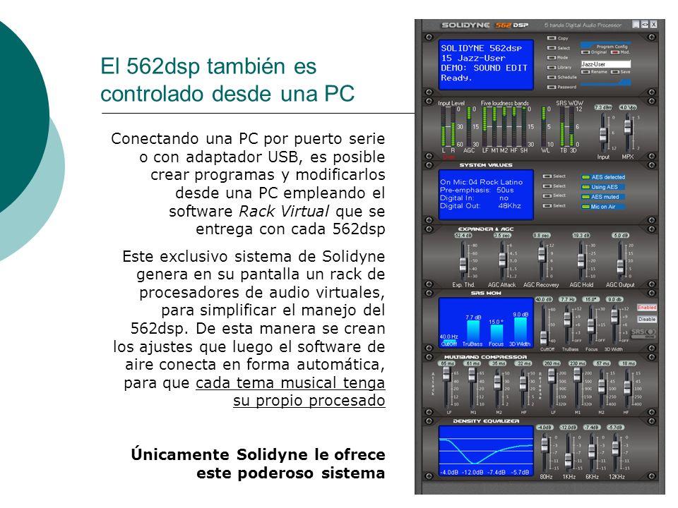 El 562dsp también es controlado desde una PC