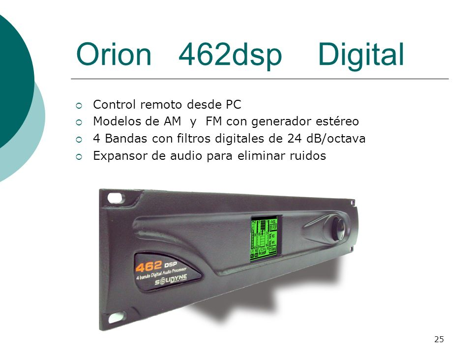 Orion 462dsp Digital Control remoto desde PC