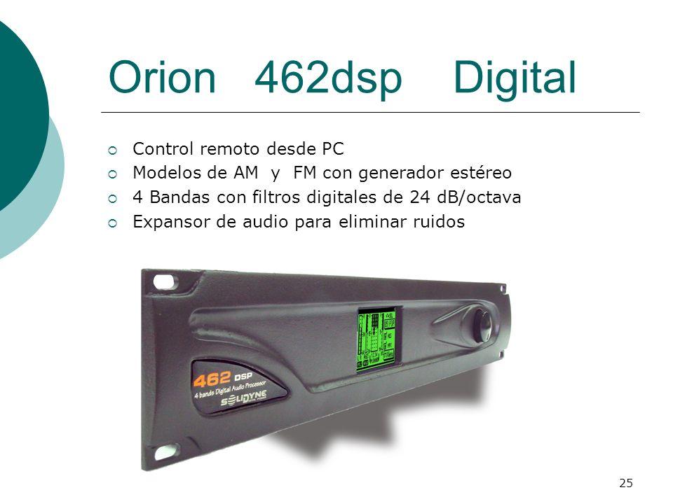 Orion 462dsp Digital Control remoto desde PC