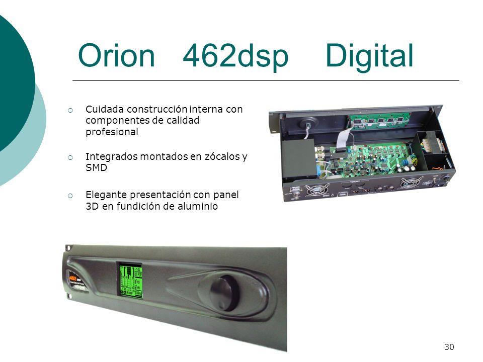 Orion 462dsp Digital Cuidada construcción interna con componentes de calidad profesional. Integrados montados en zócalos y SMD.