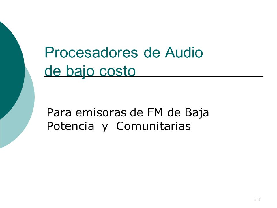 Procesadores de Audio de bajo costo