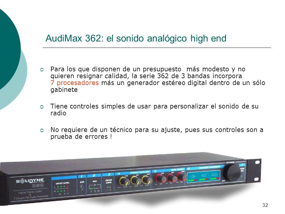 AudiMax 362: el sonido analógico high end