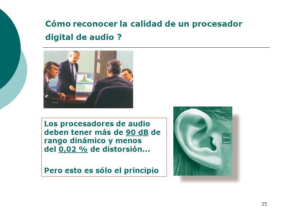 Cómo reconocer la calidad de un procesador digital de audio