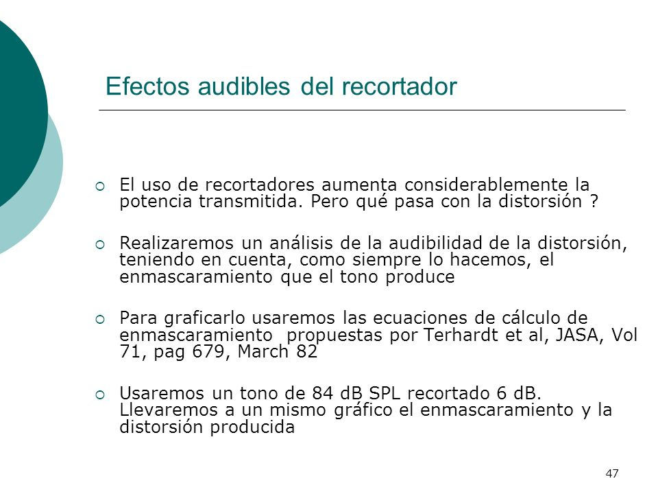 Efectos audibles del recortador
