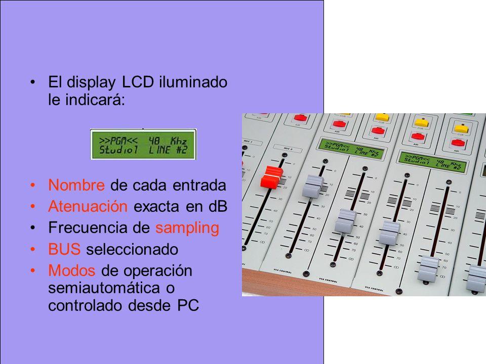 El display LCD iluminado le indicará: