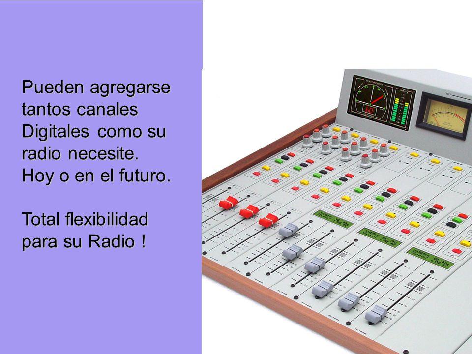 Pueden agregarse tantos canales Digitales como su radio necesite