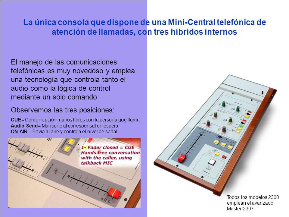 La única consola que dispone de una Mini-Central telefónica de atención de llamadas, con tres híbridos internos