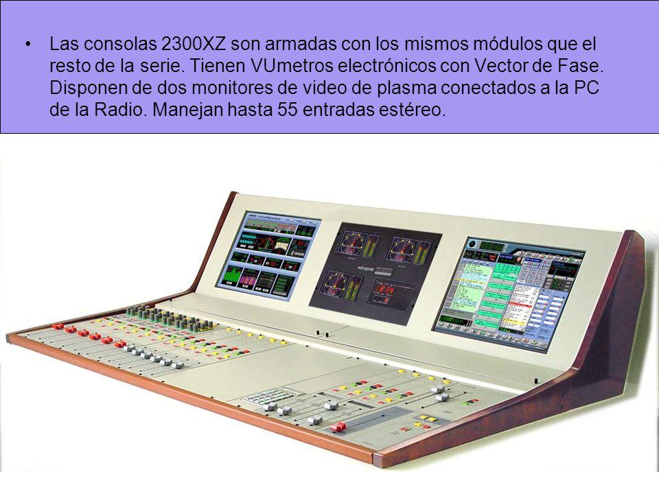 Las consolas 2300XZ son armadas con los mismos módulos que el resto de la serie.