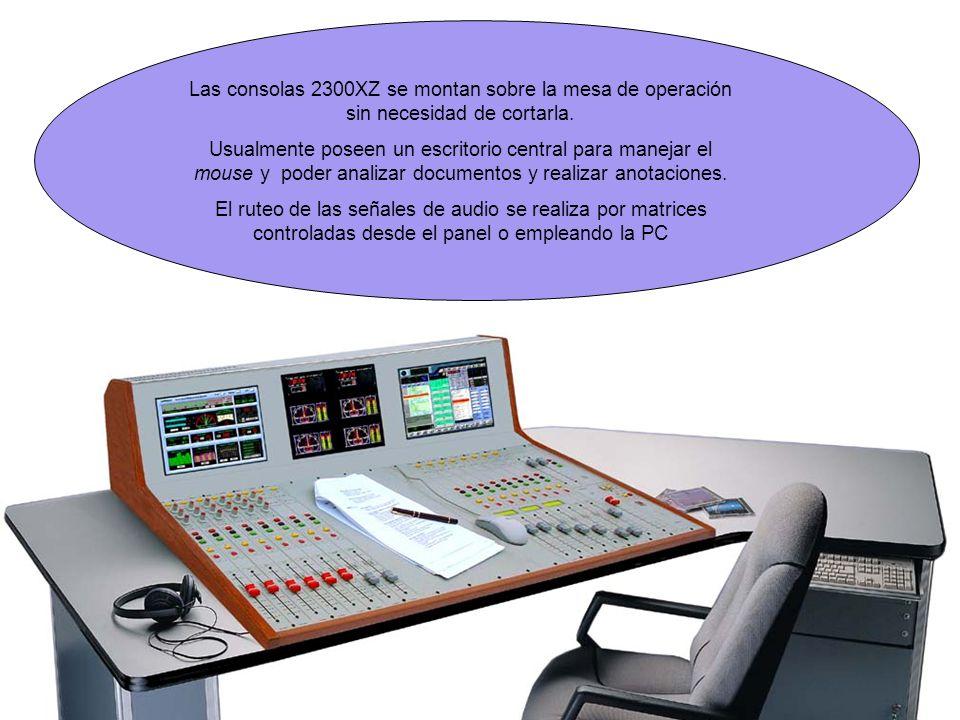 Las consolas 2300XZ se montan sobre la mesa de operación sin necesidad de cortarla.