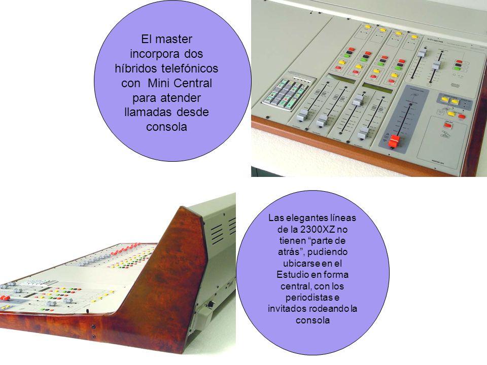 El master incorpora dos híbridos telefónicos con Mini Central para atender llamadas desde consola
