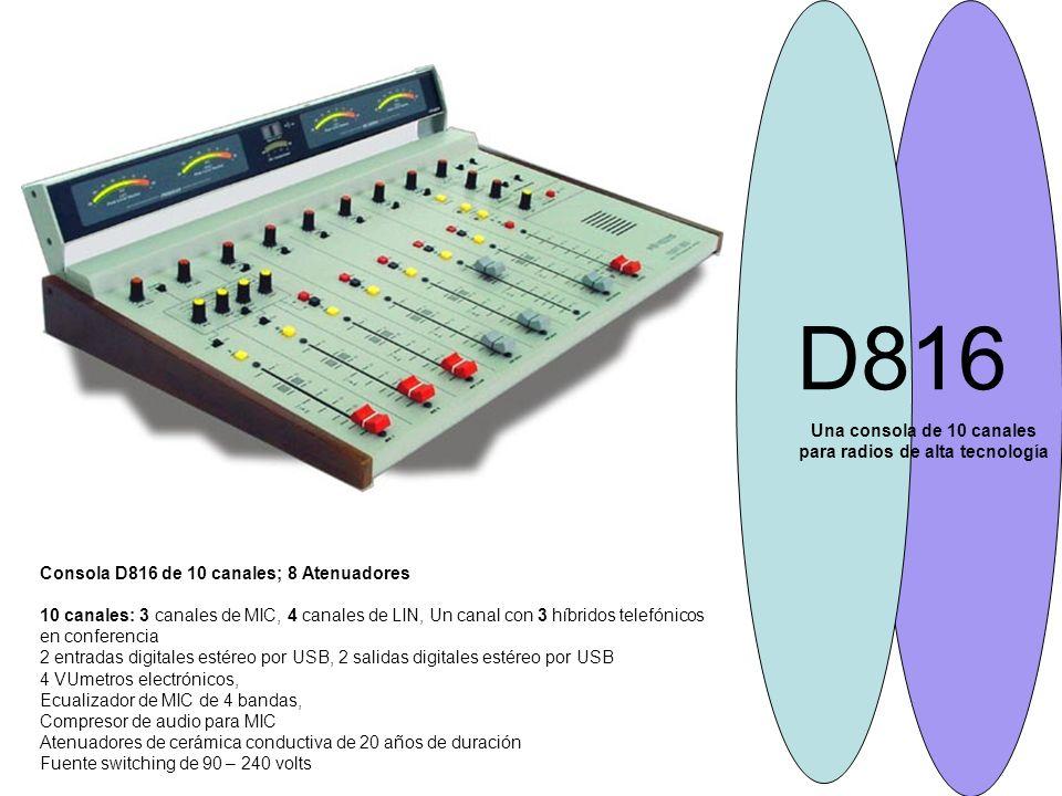 Una consola de 10 canales para radios de alta tecnología