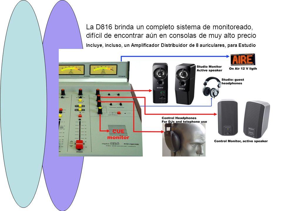 La D816 brinda un completo sistema de monitoreado, difícil de encontrar aún en consolas de muy alto precio