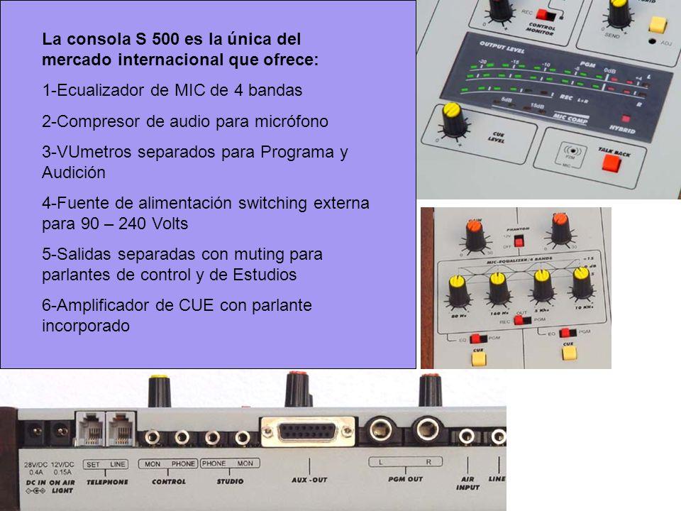 La consola S 500 es la única del mercado internacional que ofrece: