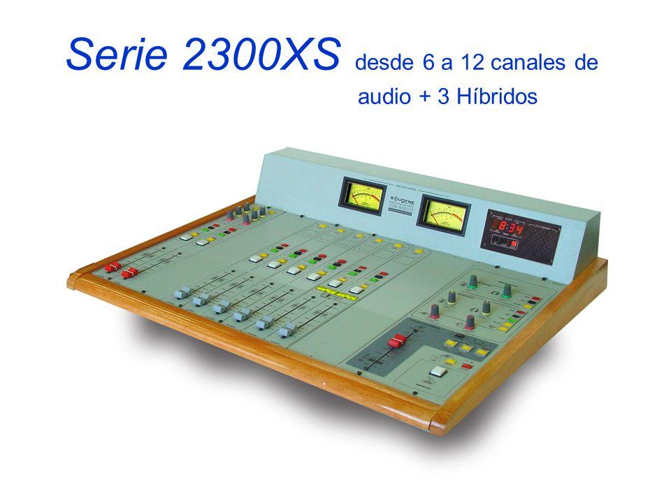 Serie 2300XS desde 6 a 12 canales de audio + 3 Híbridos