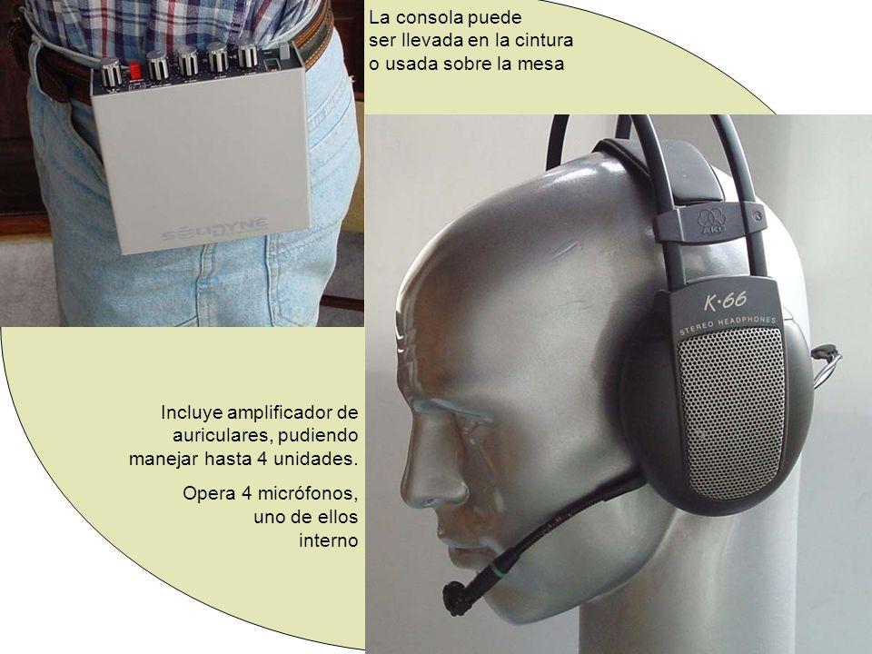 La consola puede ser llevada en la cintura o usada sobre la mesa