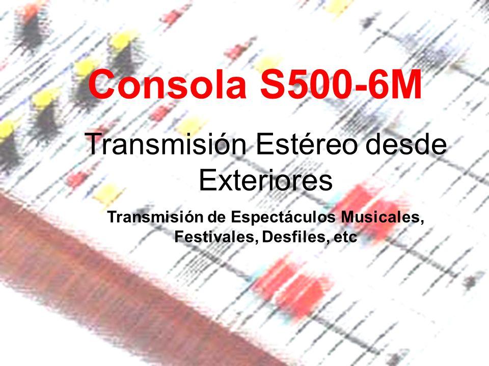 Transmisión de Espectáculos Musicales, Festivales, Desfiles, etc