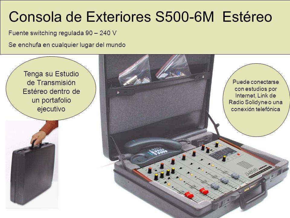 Consola de Exteriores S500-6M Estéreo