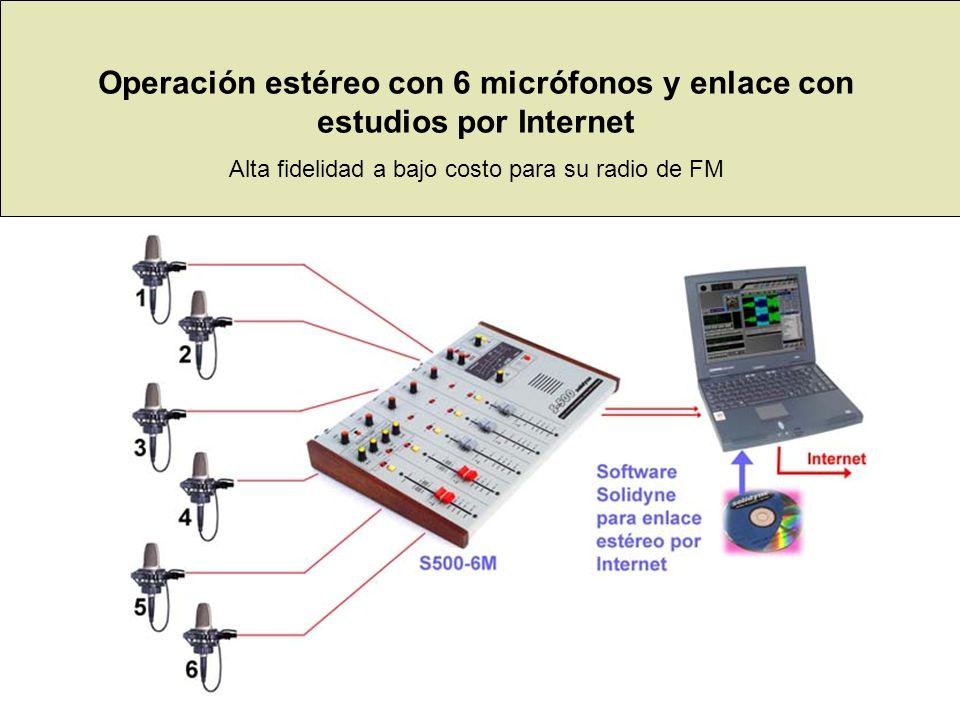 Operación estéreo con 6 micrófonos y enlace con estudios por Internet