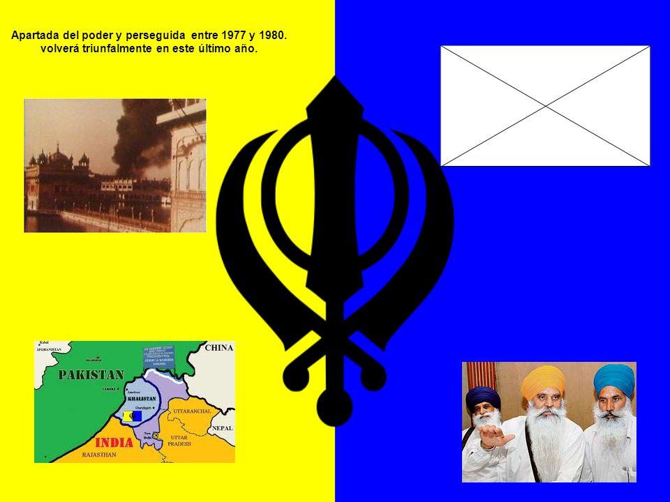 Apartada del poder y perseguida entre 1977 y 1980
